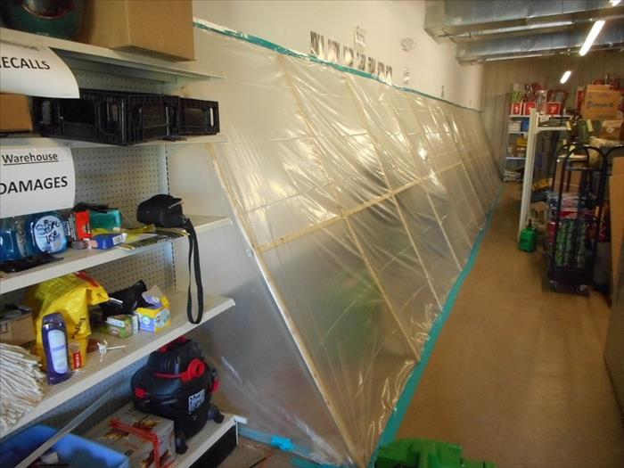 Mold remediation in local retail store After