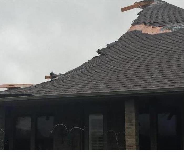 Shingle roof damage